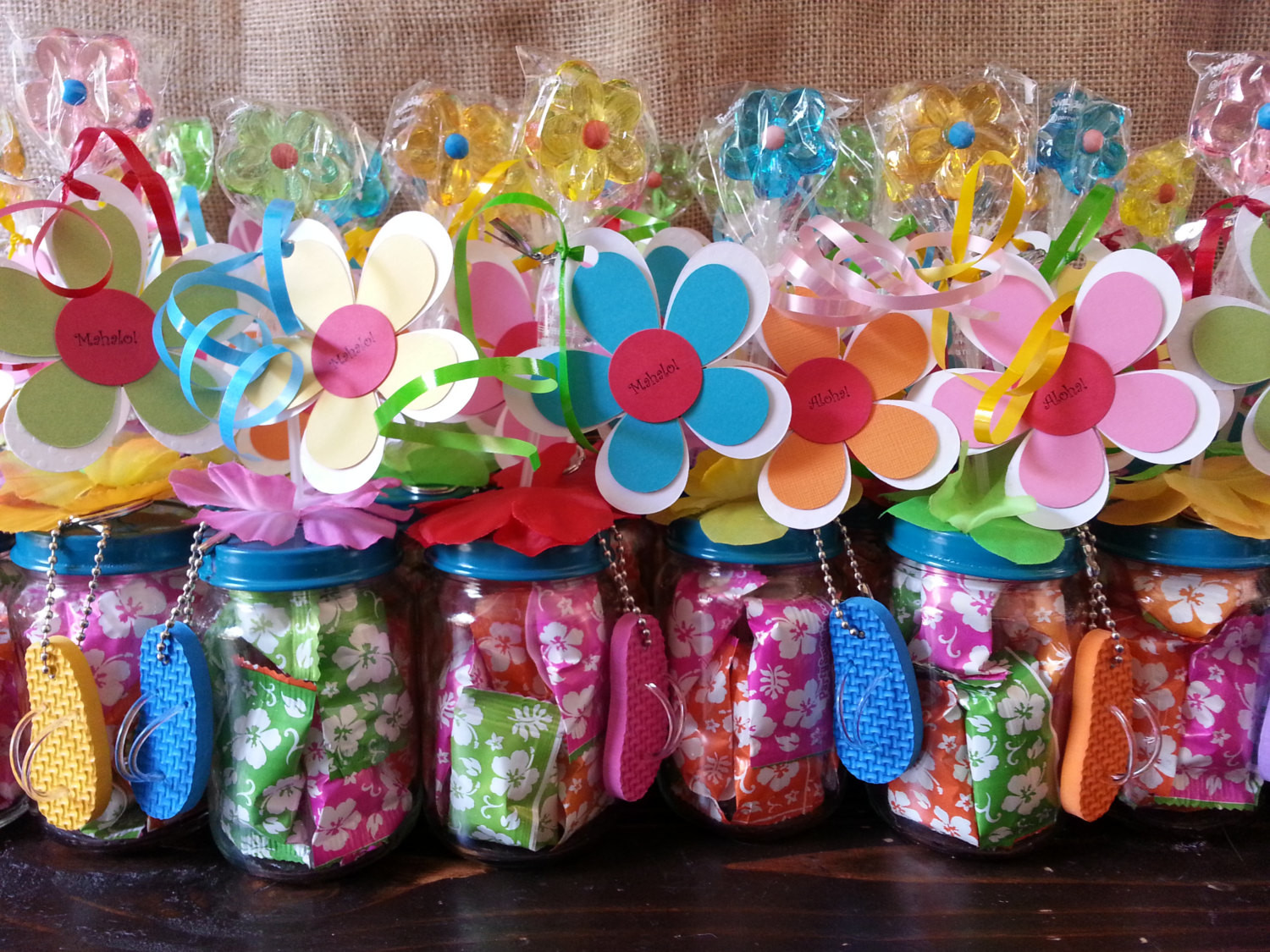 Best ideas about Hawaiian Birthday Decorations . Save or Pin Hawaiian Luau Party Favors Baby food jar party favors Now.
