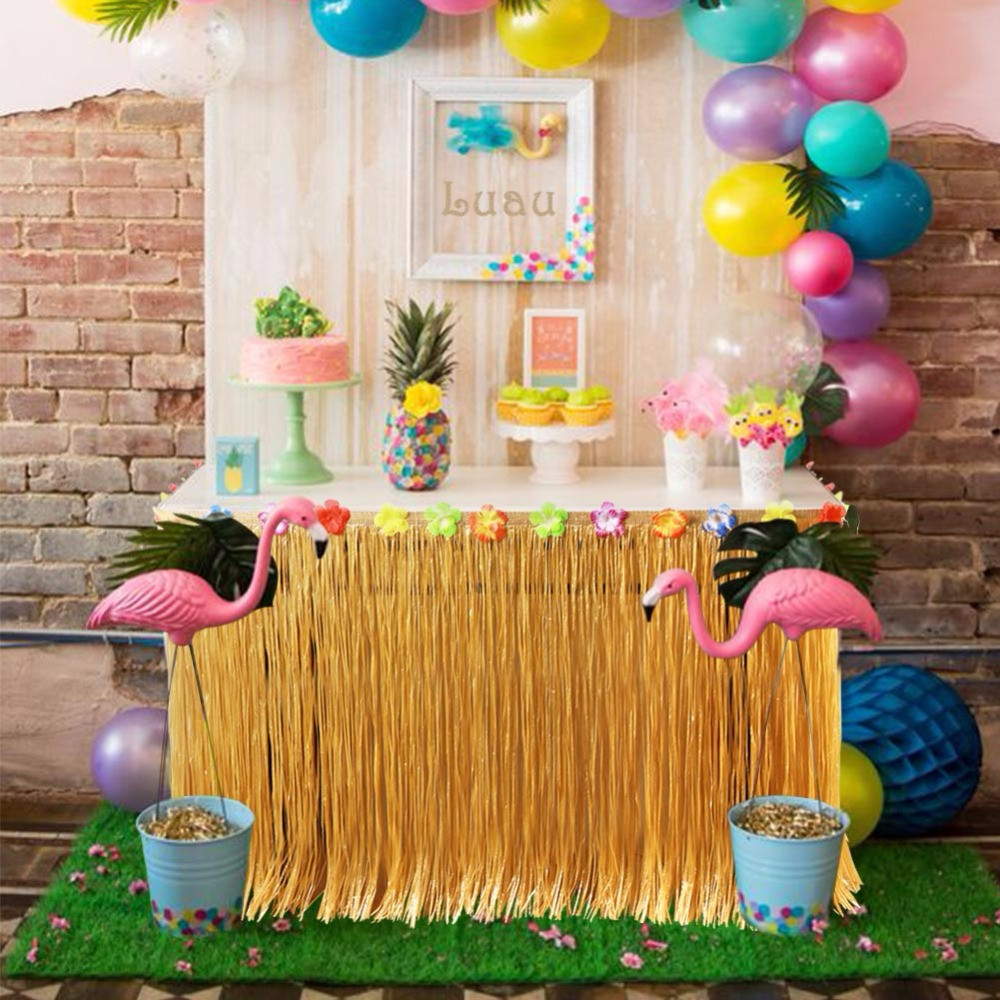 Best ideas about Hawaiian Birthday Decorations . Save or Pin OurWarm Hawaiian Party Decorations 275x75cm Artificial Now.