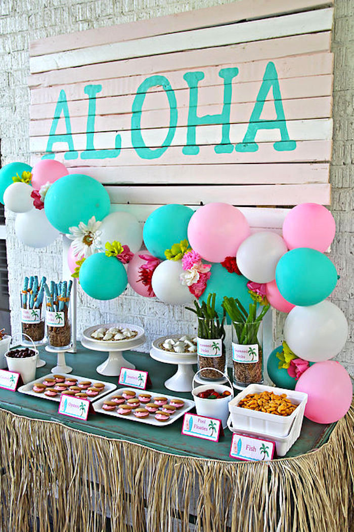 Best ideas about Hawaiian Birthday Decorations . Save or Pin Kara s Party Ideas Hawaiian Luau Birthday Party Now.
