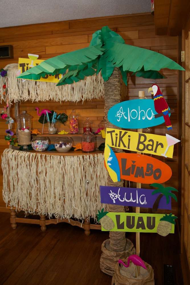 Best ideas about Hawaiian Birthday Decorations . Save or Pin Luau Hawaiian Birthday Party Ideas in 2019 Now.