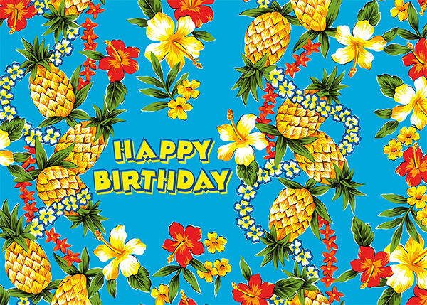 Best ideas about Hawaiian Birthday Wishes . Save or Pin 4 GREETING CARDS Hawaiian HAPPY BIRTHDAY Pineapple Express Now.