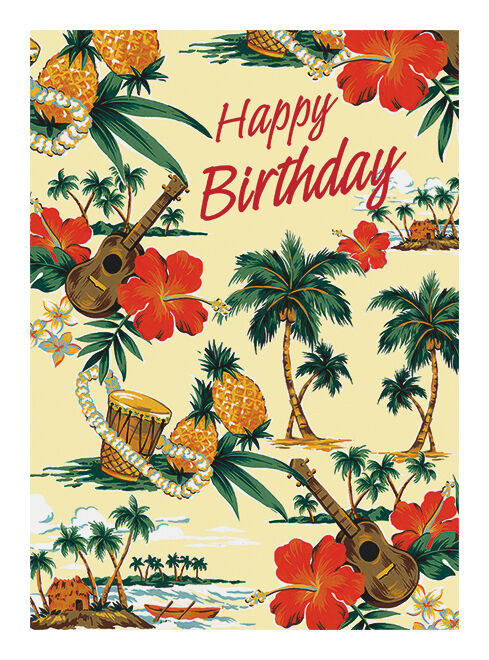 Best ideas about Hawaiian Birthday Wishes . Save or Pin 4 GREETING CARDS Hawaiian HAPPY BIRTHDAY Island Scene Now.