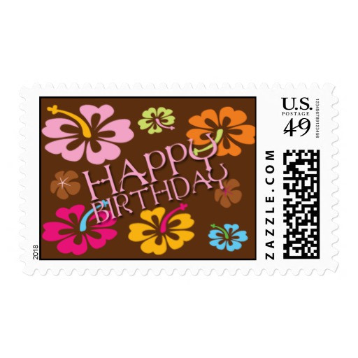 Best ideas about Hawaiian Birthday Wishes . Save or Pin Hawaiian Flowers Happy Birthday Postage Now.