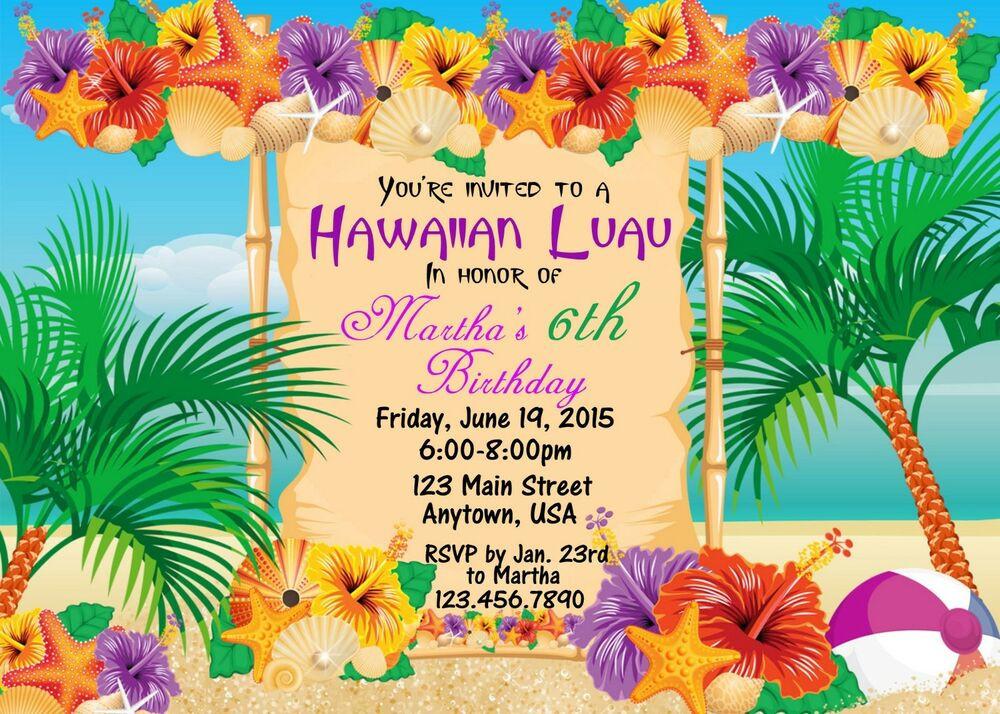 Best ideas about Hawaiian Birthday Wishes . Save or Pin Luau Invitation Birthday Hawaiian Invitation Luau Now.