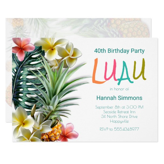 Best ideas about Hawaiian Birthday Wishes . Save or Pin Hawaiian Birthday Cards Greeting & Cards Now.