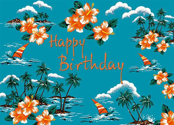 Best ideas about Hawaiian Birthday Wishes . Save or Pin 4 GREETING CARDS Hawaiian HAPPY BIRTHDAY Leisurely Hawaii Now.