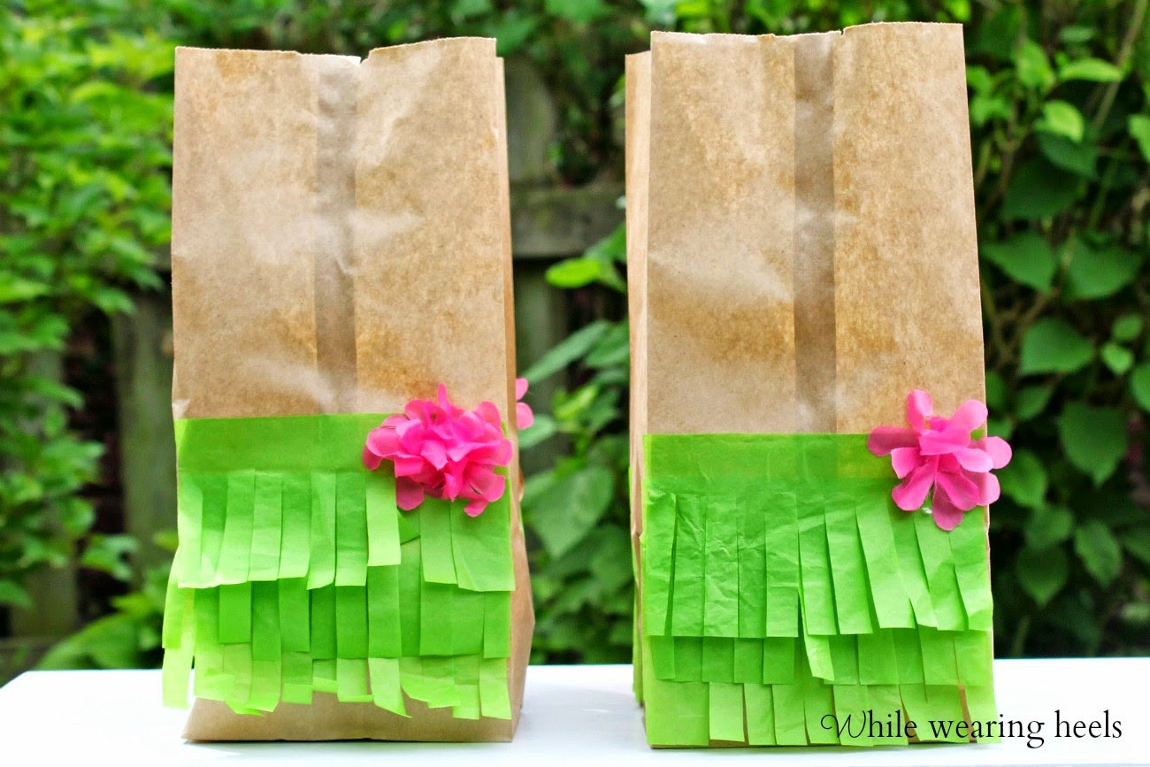 Best ideas about Hawaiian Gift Ideas . Save or Pin While Wearing Heels Garden Party Favor Bags Now.
