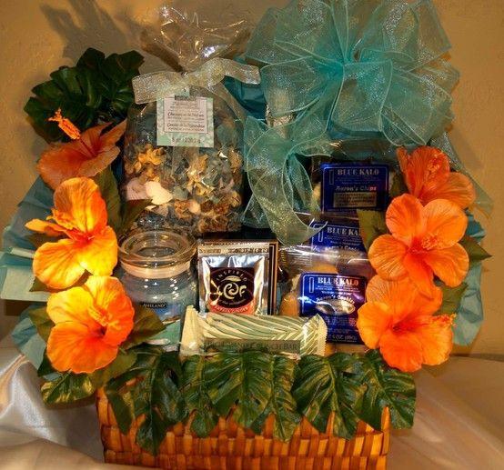 Best ideas about Hawaiian Gift Ideas . Save or Pin Custom Gift Baskets Hawaiian Theme Anniversary This Now.