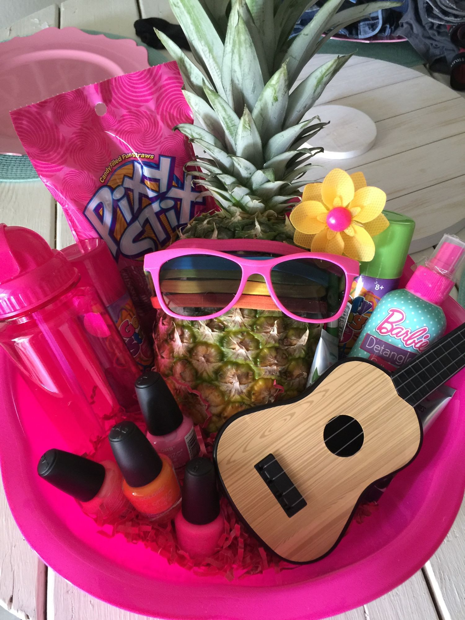 Best ideas about Hawaiian Gift Ideas . Save or Pin Made this DIY Hawaiian themed basket for a little girls Now.