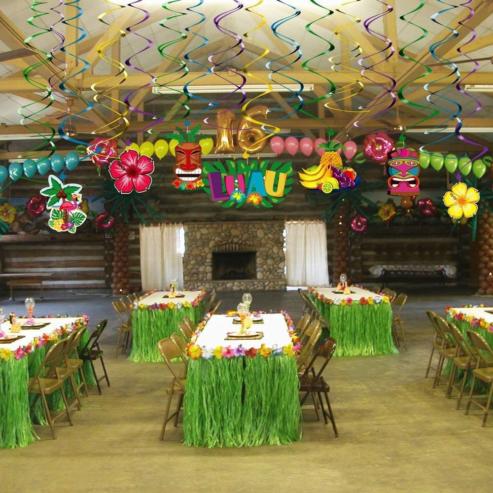 Best ideas about Hawaiian Themed Birthday Party . Save or Pin Hawaiian Party Decorations Supplies Hanging Swirls for Now.