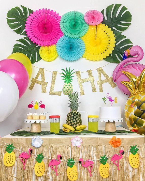 Best ideas about Hawaiian Themed Birthday Party . Save or Pin Tropical Party Luau Party Hawaiian Party Theme Summer Now.
