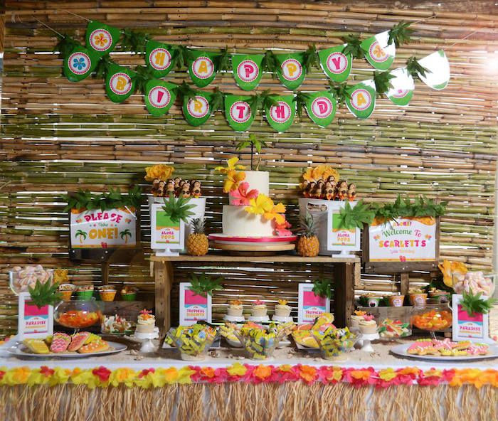 Best ideas about Hawaiian Themed Birthday Party . Save or Pin Hawaiian Luau Themed Birthday Party Summer Babies Now.