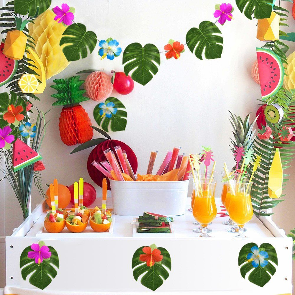Best ideas about Hawaiian Themed Birthday Party . Save or Pin Luau Hawaiian Party Wall Decoration Kit Birthday 60 Pcs Now.
