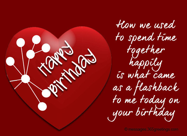 Best ideas about Heart Touching Birthday Wishes For Husband . Save or Pin Birthday Wishes For Ex Boyfriend 365greetings Now.
