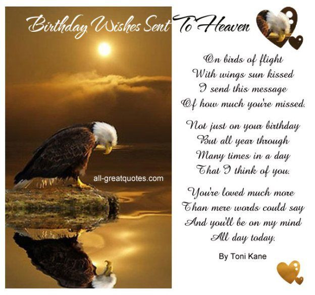 Best ideas about Heaven Birthday Wishes . Save or Pin Birthday Wishes Sent To Heaven birds of flight with Now.