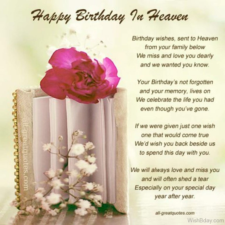 Best ideas about Heaven Birthday Wishes . Save or Pin 11 Birthday Wishes For Someone Heaven Now.