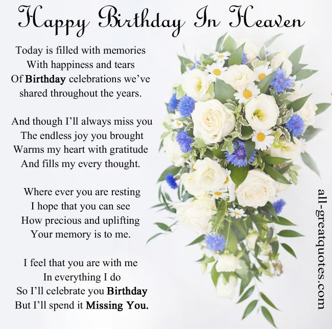 Best ideas about Heaven Birthday Wishes . Save or Pin Happy Birthday Wish in Heaven Now.