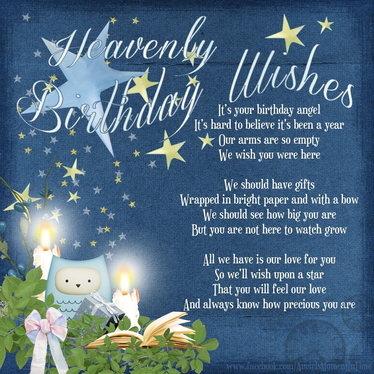 Best ideas about Heaven Birthday Wishes . Save or Pin Heavenly Birthday Wishes Auriel Now.