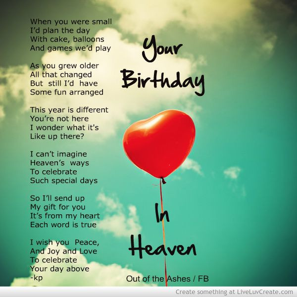 Best ideas about Heaven Birthday Wishes . Save or Pin Birthday Wishes In Heaven Happy Birthday Now.