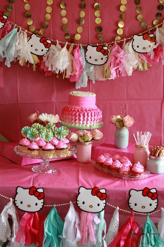 Best ideas about Hello Kitty Birthday Decorations . Save or Pin HELLO KITTY BIRTHDAY PARTY Now.