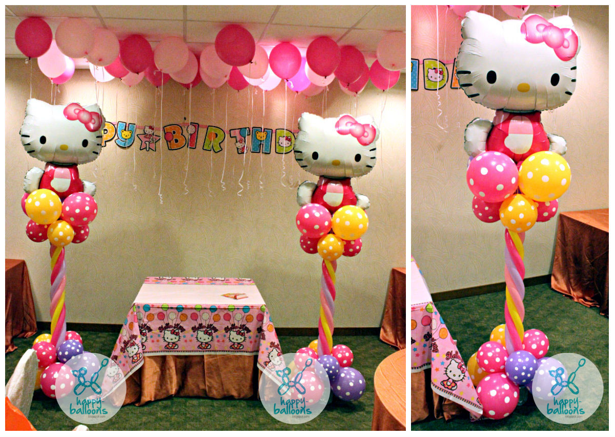Best ideas about Hello Kitty Birthday Decorations . Save or Pin Happy Balloons Now.