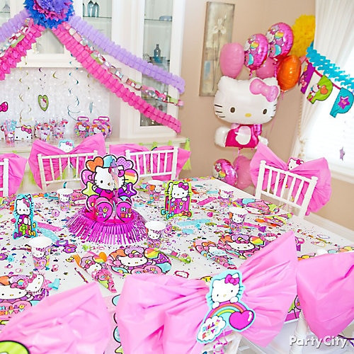 Best ideas about Hello Kitty Birthday Decorations . Save or Pin Hello Kitty Party Table Idea Party City Now.