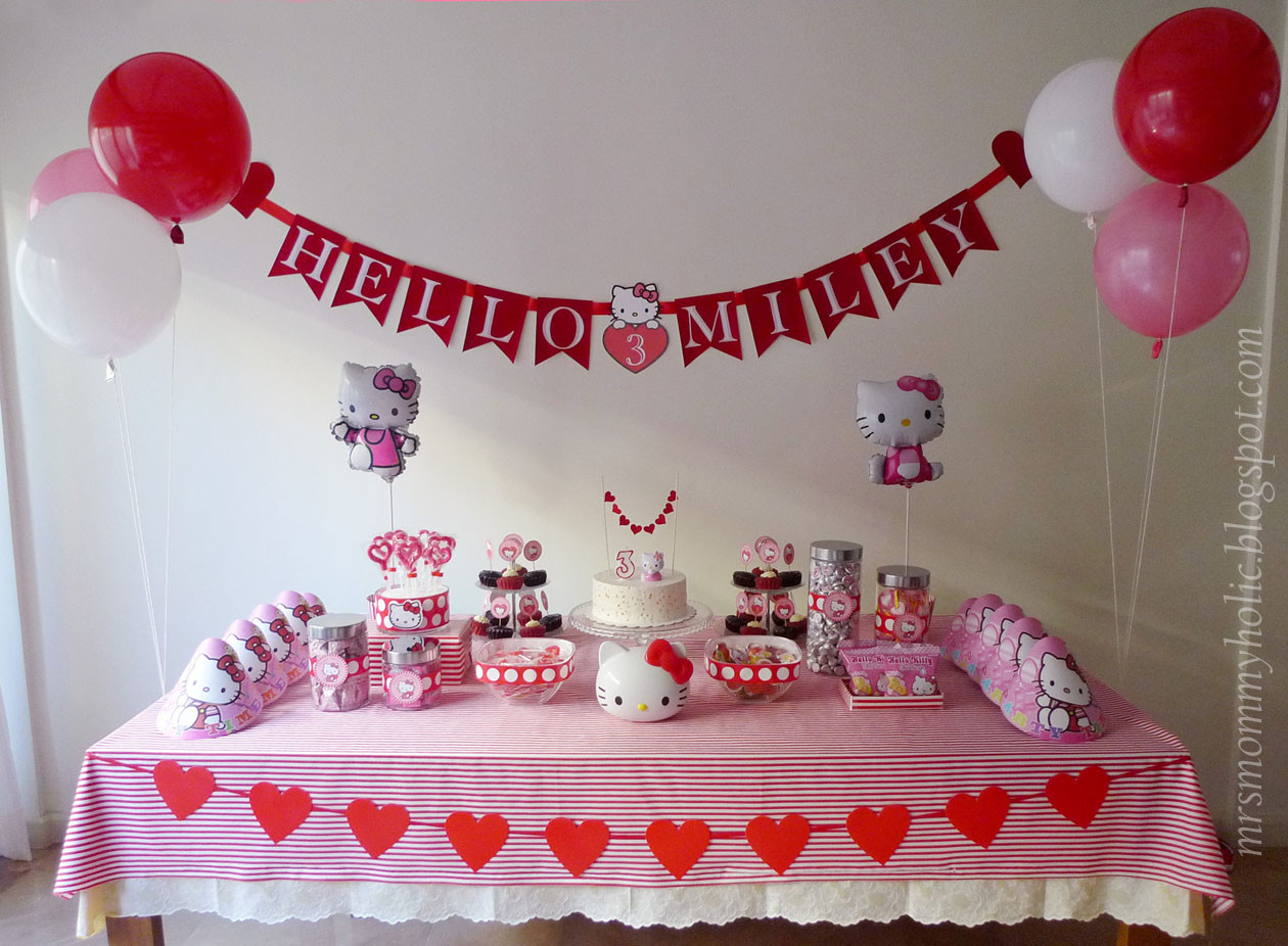 Best ideas about Hello Kitty Birthday Decorations . Save or Pin MrsMommyHolic A Hello Kitty Valentine Birthday Party Now.