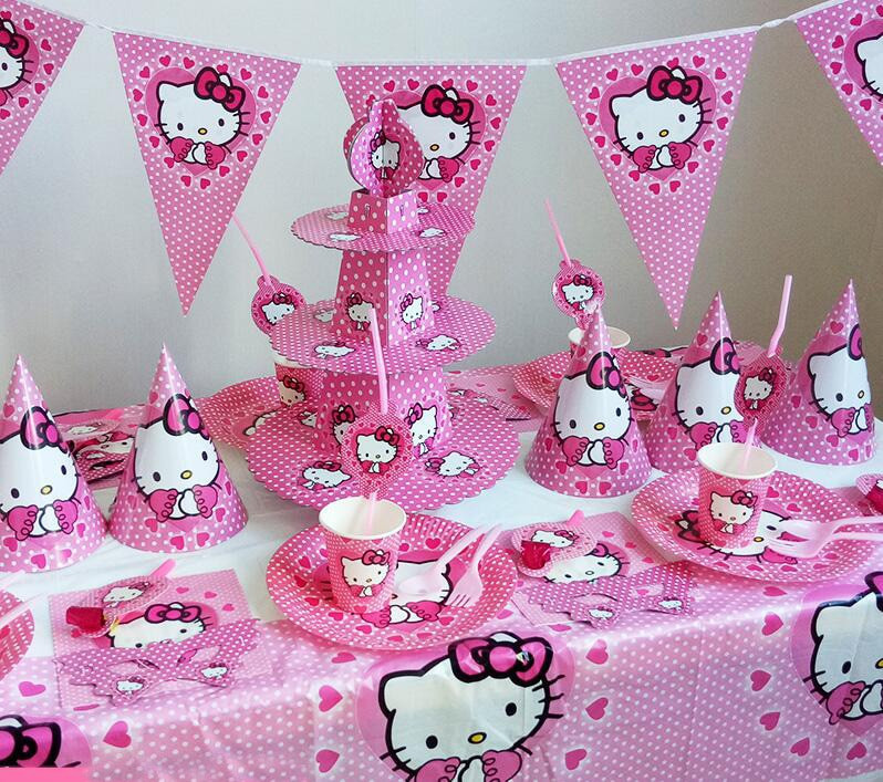 Best ideas about Hello Kitty Birthday Decorations . Save or Pin Hello Kitty theme Kids Birthday Party Decoration Set Party Now.