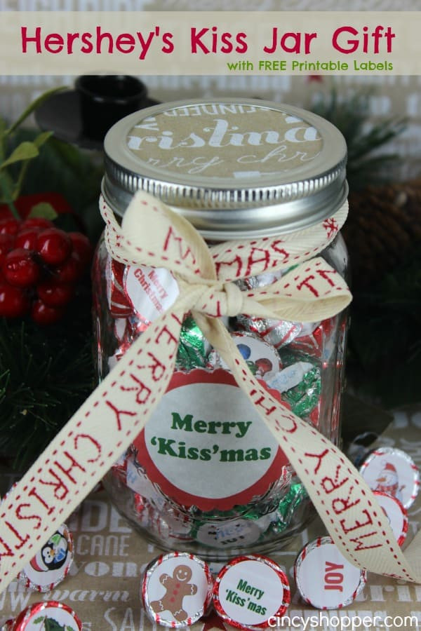 Best ideas about Hershey Kisses Gift Ideas . Save or Pin Hershey s Kiss Jar Gift with FREE Printable Labels Now.