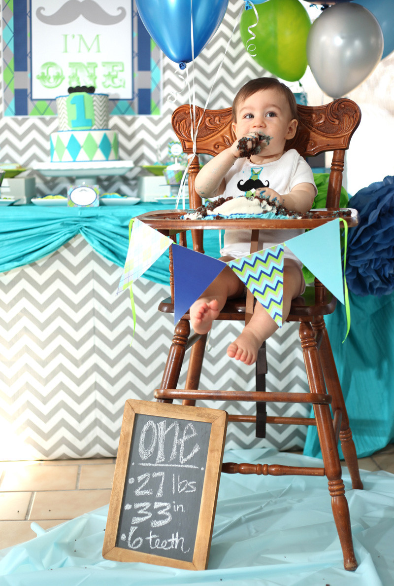 Best ideas about High Chair Decorations 1st Birthday Boy . Save or Pin Little Man Mustache Bash First Birthday Lillian Hope Designs Now.