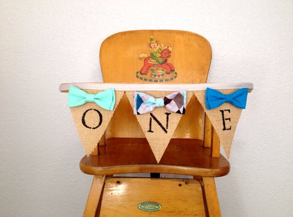 Best ideas about High Chair Decorations 1st Birthday Boy . Save or Pin Boy 1st birthday high chair banner Boys bow tie birthday Boy Now.
