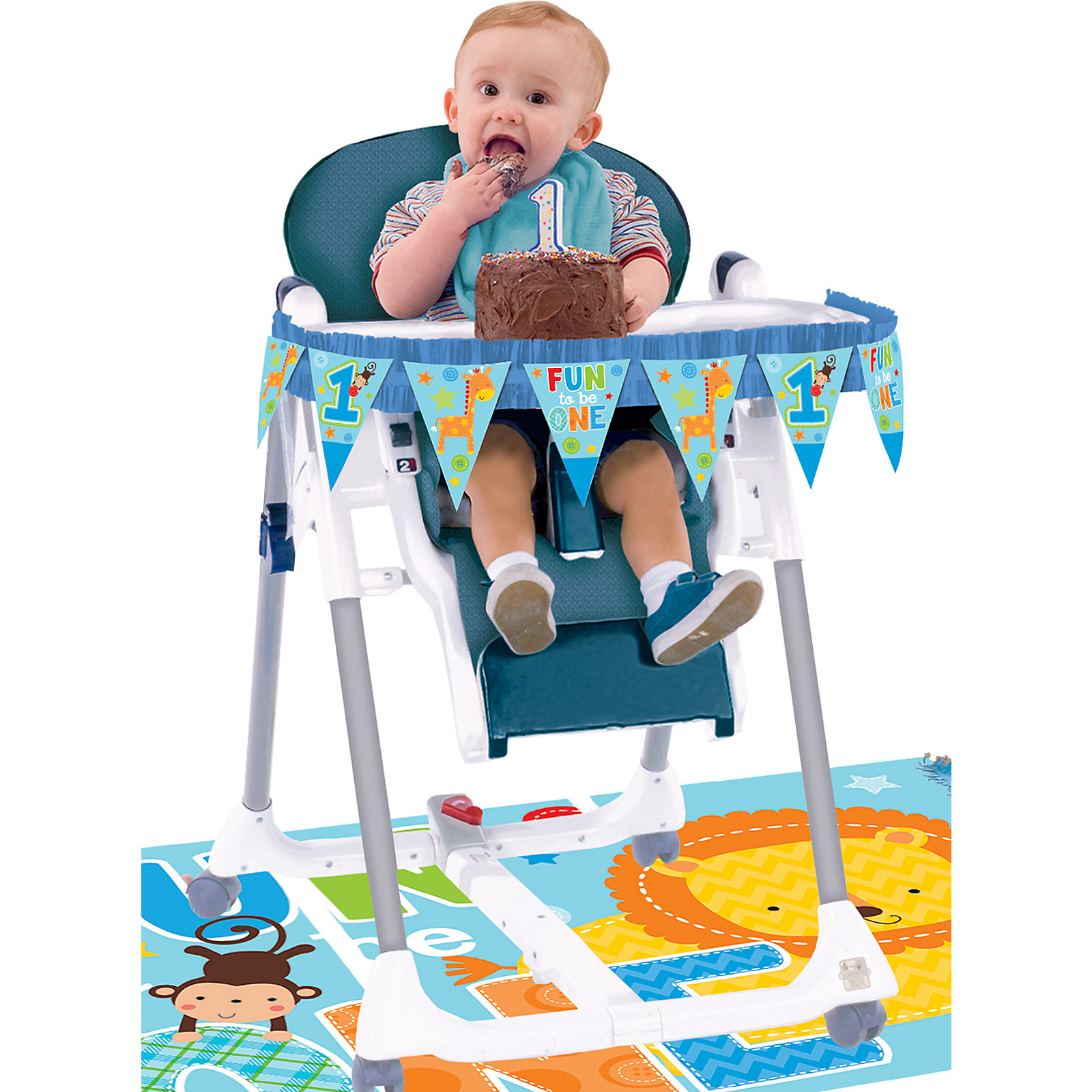 Best ideas about High Chair Decorations 1st Birthday Boy . Save or Pin BOYS 1ST FIRST BIRTHDAY BLUE HIGH CHAIR DECORATION KIT ONE Now.