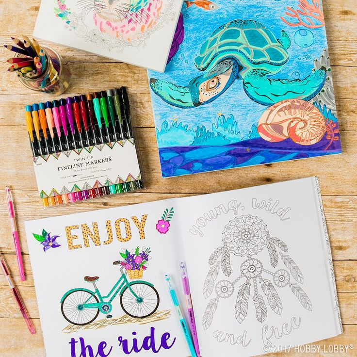 Best ideas about Hobby Lobby Adult Coloring Books . Save or Pin 251 best Art Supplies & Projects images on Pinterest Now.