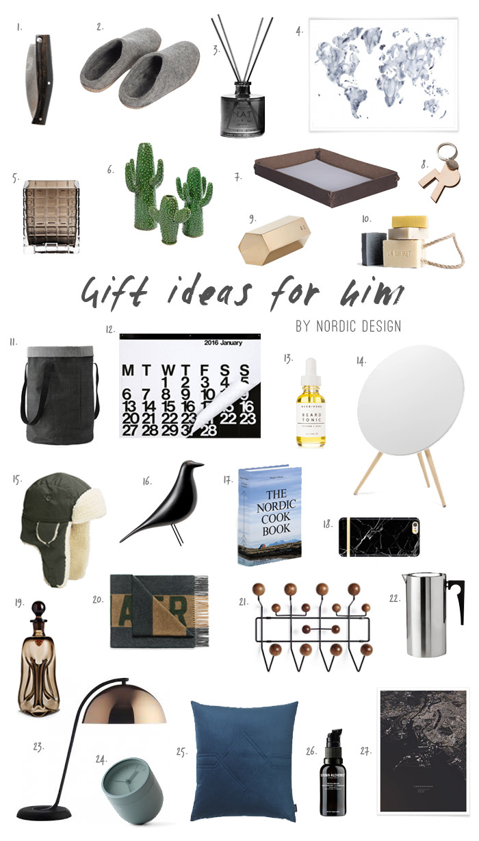 Best ideas about Holiday Gift Ideas For Him . Save or Pin Gift Ideas for Him NordicDesign Now.