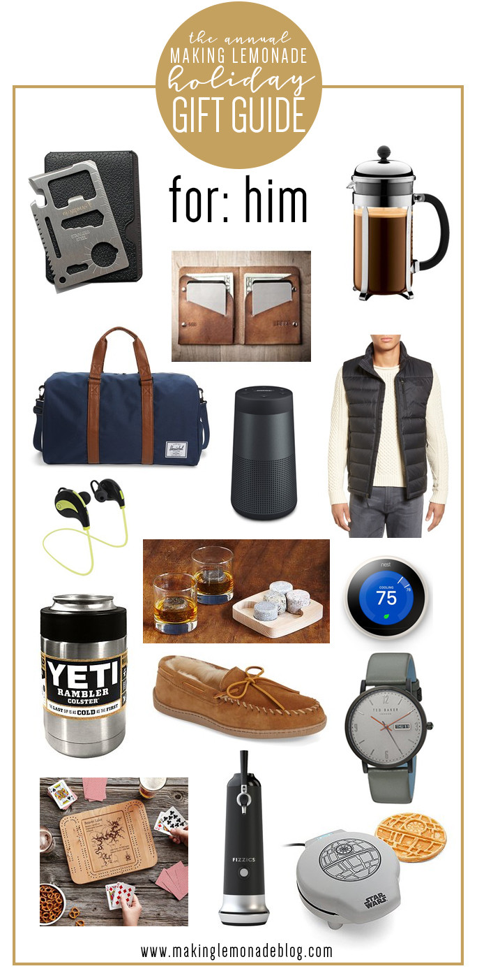 Best ideas about Holiday Gift Ideas For Him . Save or Pin Best Gifts for Him Holiday Gift Guide Now.