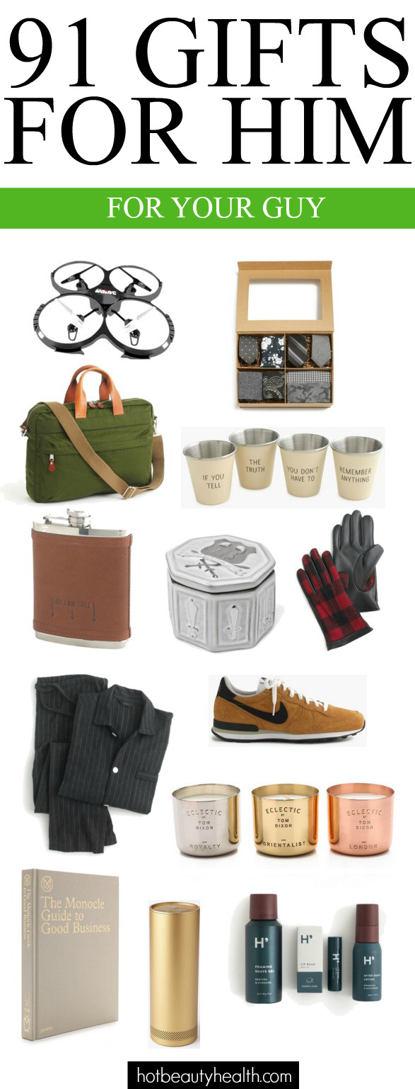 Best ideas about Holiday Gift Ideas For Him . Save or Pin 100 Gift Ideas for The Guy s in Your Life Now.