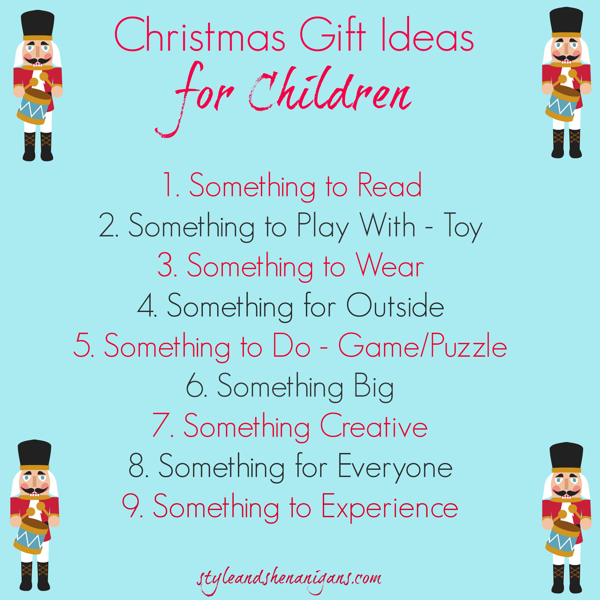 Best ideas about Holiday Gift Ideas For Kids . Save or Pin Christmas Gift Guides & Fashion 2014 Style & Shenanigans Now.