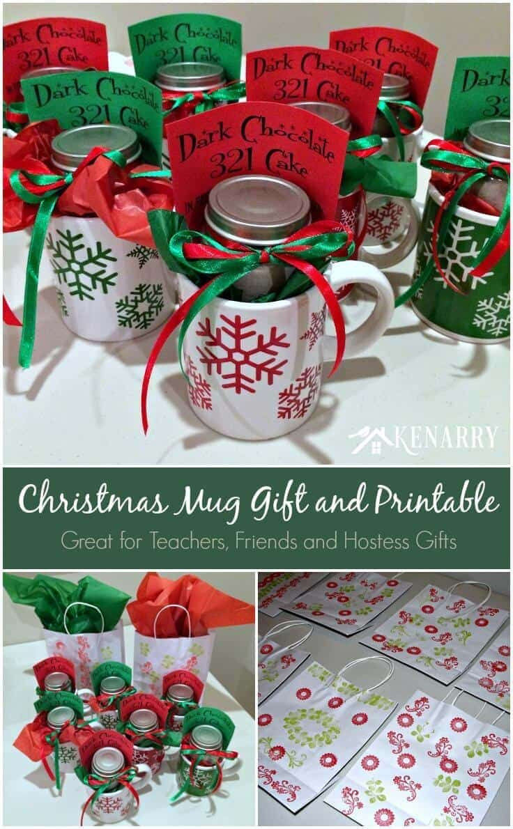 Best ideas about Holiday Party Gift Ideas . Save or Pin Christmas Mug Teacher Gift with Free Printable Now.