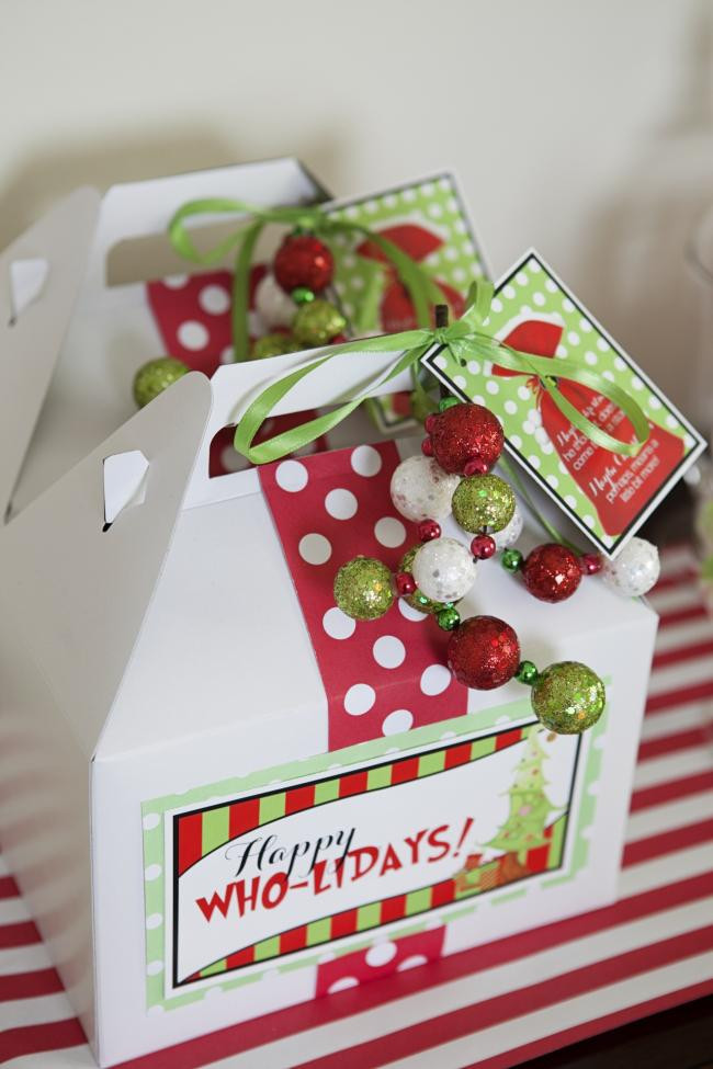 Best ideas about Holiday Party Gift Ideas . Save or Pin A Grinch Inspired Christmas Party Spaceships and Laser Beams Now.