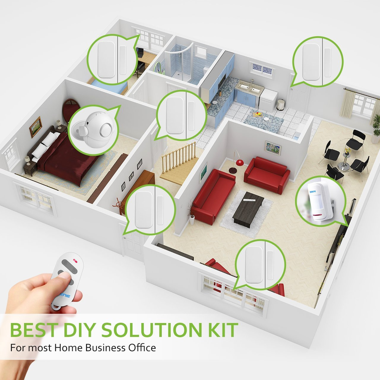 Best ideas about Home Alarm Systems DIY . Save or Pin BIBENE WP6 Wireless Home Security Alarm System DIY Kit WiFi Now.