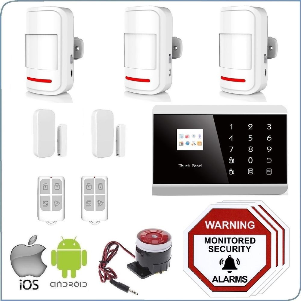 Best ideas about Home Alarm Systems DIY . Save or Pin Wireless Home Security DIY Burglar House Alarm System 3G Now.