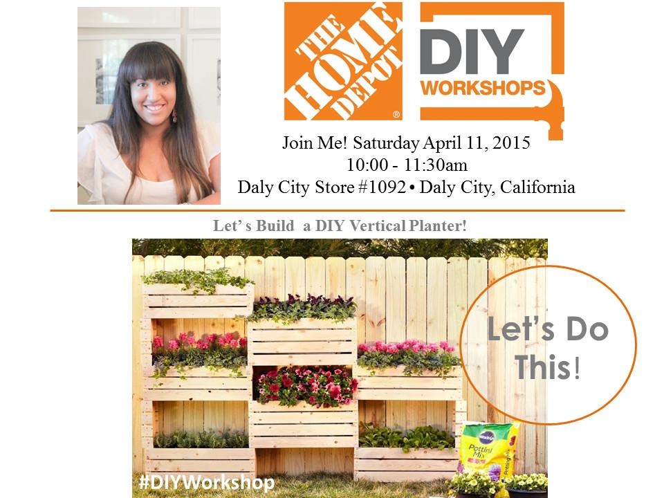 Best ideas about Home Depot DIY Workshop . Save or Pin AnahiKristian The Home Depot DIY Workshop Vertical Planter Now.