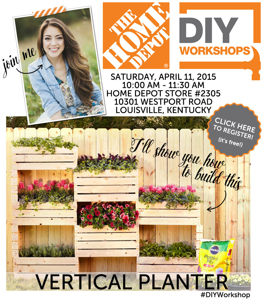 Best ideas about Home Depot DIY Workshop . Save or Pin Home Depot DIY Workshop with Jen Woodhouse Now.
