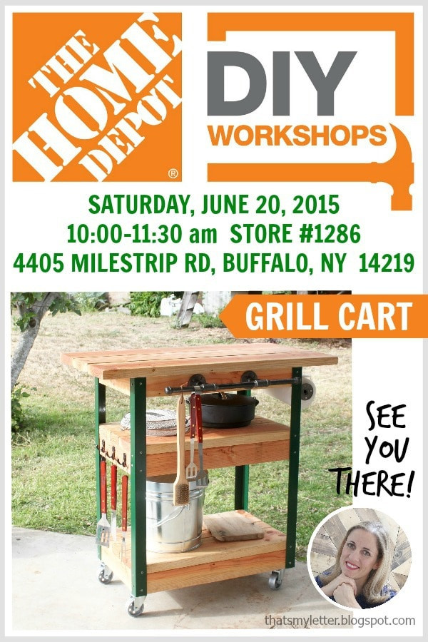 Best ideas about Home Depot DIY Workshop . Save or Pin DIY Grill Cart or Bar Cart Jaime Costiglio Now.