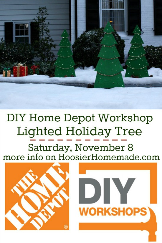 Best ideas about Home Depot DIY Workshop . Save or Pin Lighted Holiday Yard Tree Home Depot DIY Workshop Now.