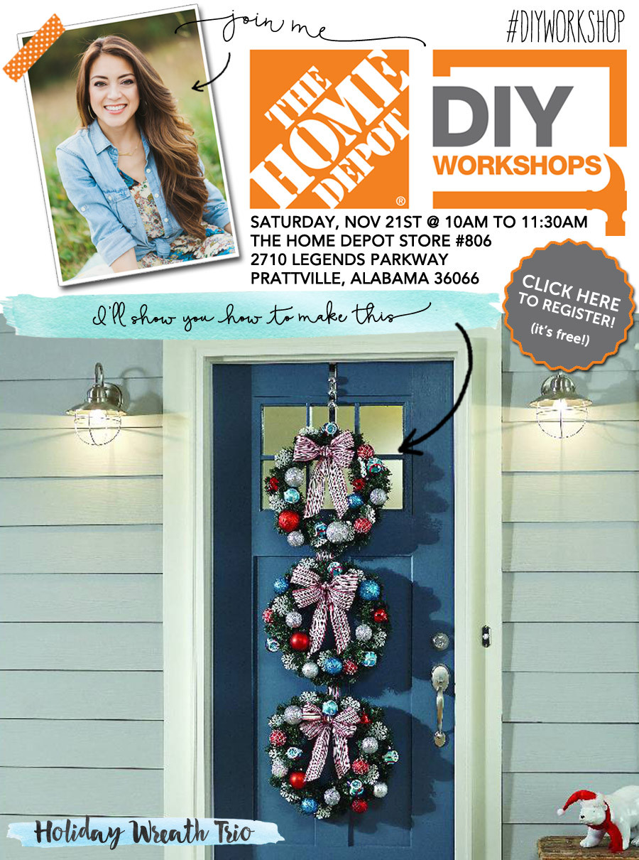 Best ideas about Home Depot DIY Workshop . Save or Pin Home Depot DIY Workshop Holiday Wreath Trio Now.