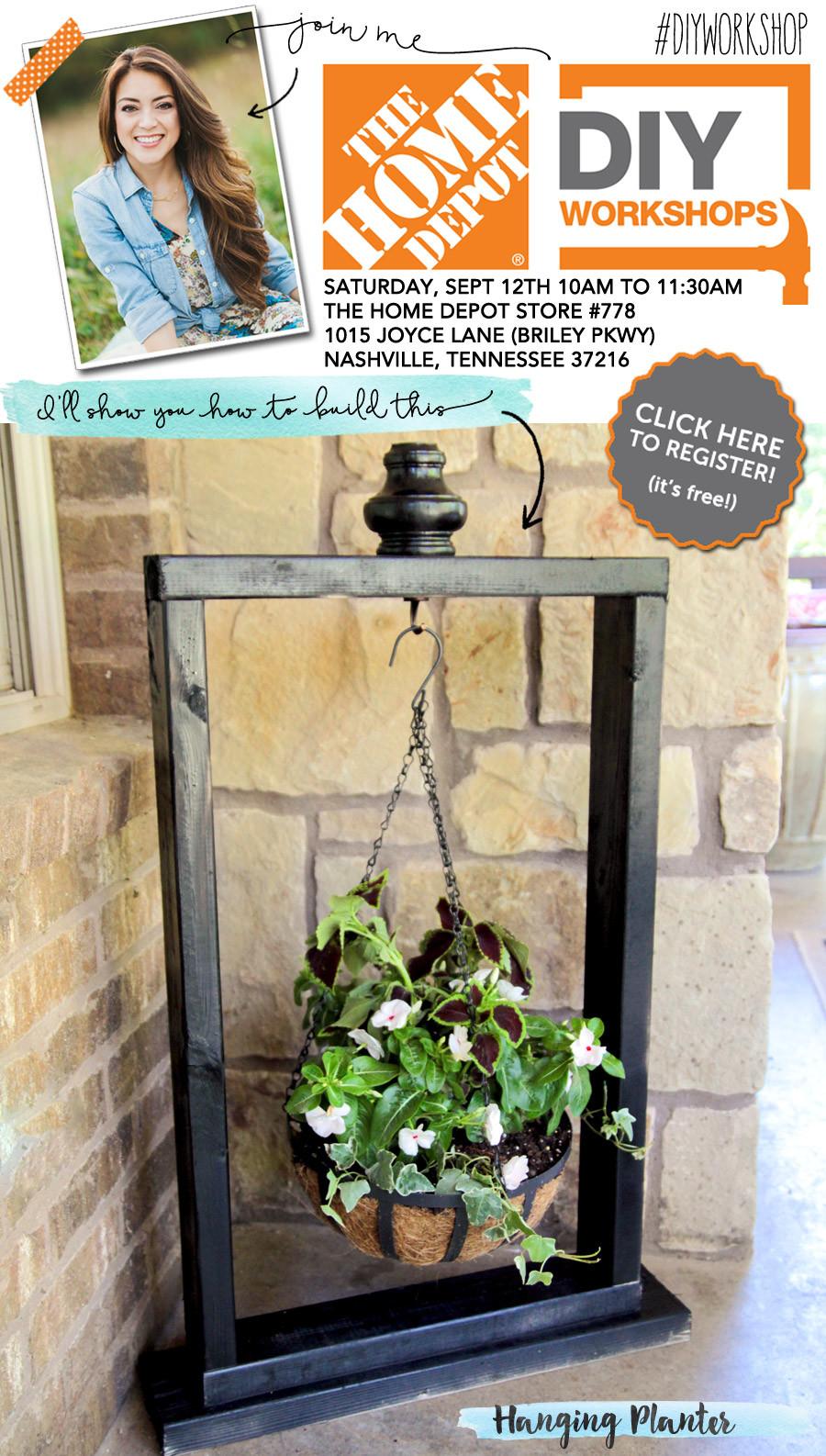 Best ideas about Home Depot DIY Workshop . Save or Pin Home Depot DIY Workshop Hanging Planter Now.