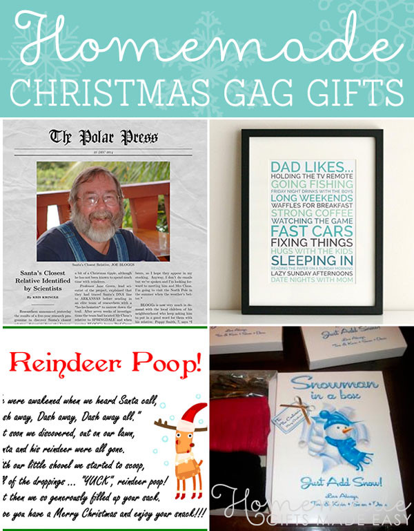 Best ideas about Home Made Gag Gift Ideas . Save or Pin Funniest Homemade Christmas Gag Gifts and Ideas Now.