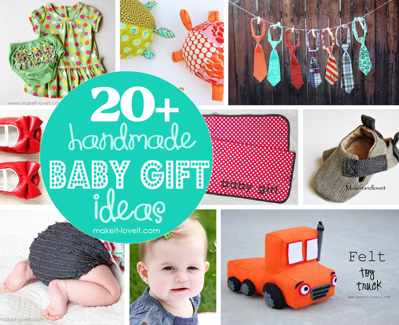 Best ideas about Homemade Baby Gift Ideas . Save or Pin 20 Handmade Baby Gift Ideas Now.