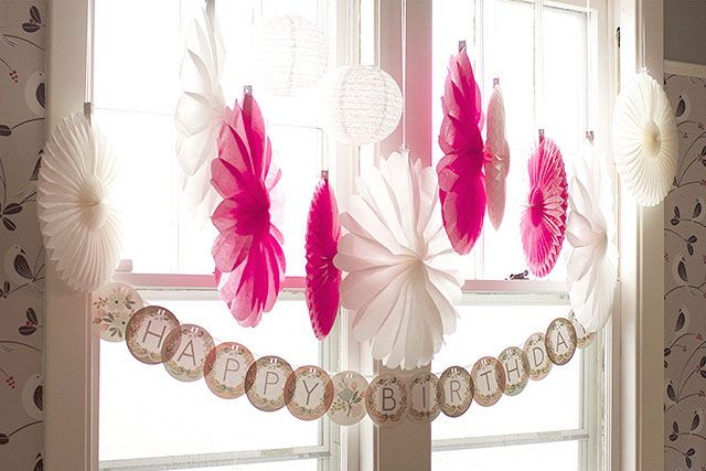 Best ideas about Homemade Birthday Decorations For Adults . Save or Pin Window Decorations Now.